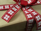 CHUNKY SNOWFLAKES Christmas Nordic style - Textured - Luxury Wire Edged Ribbon