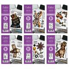 NEW Crafters Companion -STEAMPUNK ANIMALS A6 Stamps