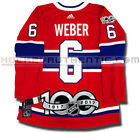 SHEA WEBER MONTREAL CANADIENS ADIDAS ADIZERO HOME JERSEY AUTHENTIC PRO 100TH