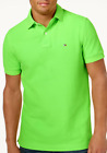 Tommy Hilfiger Men's Neon Green Custom Fit Ivy Polo Shirt