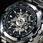 Men Fashion Watches Skeleton Automatic Mechanical Military Relogio Masculino A2 image