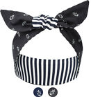 Küstenluder MARIVEL Stripes ANCHOR Heart HAARBAND Hair Band Rockabilly