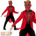 Deluxe Day of the Dead Devil Boys Fancy Dress Halloween Red Kids Childs Costume