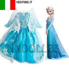 CARNEVALE COSTUME FROZEN Dress up Elsa VESTITO BIMBA TRAVESTIMENTO bambina 811