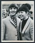 "1965 Ringo Starr, Honeymooning Beatle ""Poses with New Wife"" Vintage Photo"