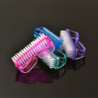 Plastic Handle Nail Cleaning Brush Manicure Pedicure Tool Dust Scrubber 4 Colors