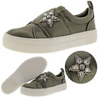 Steve Madden Graphic Women's Satin Slip On Sneakers Shoes