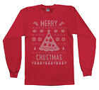 Merry Crustmas Ugly Sweater Youth Long Sleeve T-Shirt Funny Christmas Gift