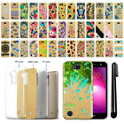 "For LG X Power 2 LV7 5.5"" Slim Sparkling Gold TPU Silicone Case Cover + Pen"