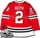 DUNCAN KEITH CHICAGO BLACKHAWKS ADIDAS ADIZERO HOME JERSEY AUTHENTIC PRO 100TH