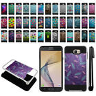 For Samsung Galaxy On7 On Nxt G610 Shockproof Brushed Hybrid Cover Case + Pen