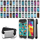For Samsung Galaxy Core Prime G360 Shockproof Brushed Hybrid Cover Case + Pen