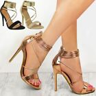 New Womens Ladies Evening High Heels Party Sandals Strappy Stilettos Shoes Size