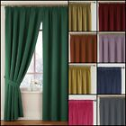 Montreal Lined Velour Soft Touch Tape Top Curtains Range (Pair) - Free Postage