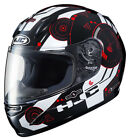 HJC CL-Y Simitic YOUTH Motorcycle Helmet / Black/Red - All Sizes