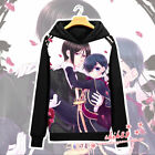 Anime Black Butler Ciel Sebastian Coat Unisex Hoodie Jacket Sweater Cosplay #Z21