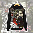 Anime Black Butler Ciel Sebastian Coat Unisex Hoodie Jacket Sweater Cosplay #LX3