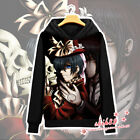 Anime Black Butler Ciel Sebastian Coat Unisex Hoodie Jacket Sweater Cosplay #N12