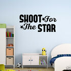 decorative stars for walls - Wall Decal Shoot For The Star Vinyl Sticker Wall Art Home Decor GD731