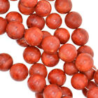 "Red Sponge Coral Round Beads Gemstone 15.5"" Strand 4mm 6mm 8mm 10mm 12mm 14mm"