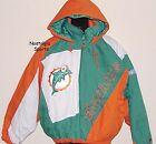 Vintage 90s Miami DOLPHINS ProPlayer JACKET Pullover SEWN Logo NWT New Old Stock