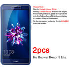 2Pcs Tempered Glass Screen Protector Film For Huawei Honor 6X 7 8X 8 9 10 Lite