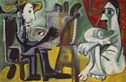 Pablo Picasso - The Painter And The Model Print Poster Giclee