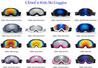 Kids Youth Ski SnowBoard Goggles Dual Lens Anti Fog UV Protection Carry Pouch