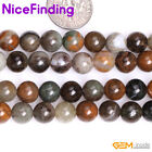 """6, 8mm Natural Round Multi Color Ocean Jasper Stone Beads For Jewelry Making 15"""""""
