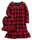 Carter's Red/Black Buffalo Check Nightgown & Doll Dress Set