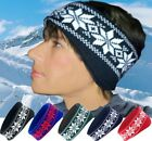 FAIR ISLE HEADBAND HEAD WARMER WINTER SKI UNISEX WARM HAT EAR WARMER EAR MUFFS