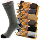 Lot 1-12 Pairs Mens Heavy Duty Winter Warm Merino Lambs Wool Boots Thermal Socks