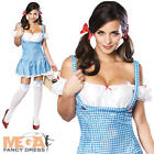 Sexy Dorothy Ladies Wizard of Oz Fancy Dress Adult Book Character Costume Outfit
