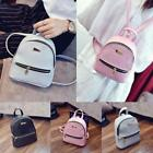Women New Style PU Leather Solid Color Mini Backpack for Teenage Girl LA