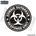 Zombie Outbreak Response Unit White Decal Control Team Gloss Sticker HGV