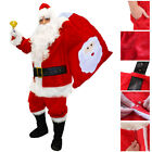 DELUXE SANTA COSTUME 12 PIECE PROFESSIONAL FATHER CHRISTMAS FANCY DRESS ACCESSOR