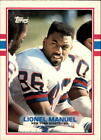 1989 Topps American/UK Football Card #19 Lionel Manuel