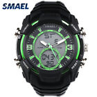 Mens Sports Military Watch LED Dual Display Digital Electronic Wristwatches Date
