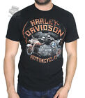 Harley-Davidson Mens 1903 Style Motorcycles with B&S Black Short Sleeve T-Shirt