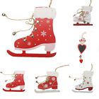 Christmas Cute Boots Wooden Ornament Xmas Party Tree Hanging Decoration Cool