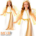 Angelic Angel Girls Fancy Dress Christmas Nativity Childrens Kids Childs Costume