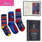 Joules Mens 3 Pack Bamboo Socks Socks and Shares Stripe Hare One Size (7-12)