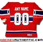 MONTREAL CANADIENS ANY NAME  NUMBER CCM VINTAGE AWAY JERSEY RED NHL HOCKEY