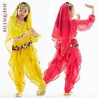New Children Girl Belly Dance Costume Set Top  Pants 3 Colors Free Shipping 12