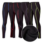 Sport Men GymTight  Pants Stretch Warm Fleece Winter Training Exercise Trousers