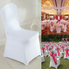 50/100 White/Black Spandex Fitted Folding Chair Covers Wedding Party Banquet US