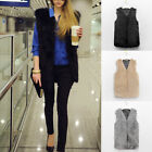 Ladies Faux Fur Sleeveless Vest Waistcoat Gilet Wrap Shrug Jacket Coat Outwear