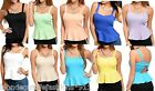 Open Cut-Out 'Bow' Back Peplum Sleeveless Tank Blouse Lined Bra Top *9 Colors