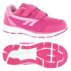 Hi-Tec Pajo EZ Girls Velcro Pink Running Shoes - Comfortable Sports Trainers