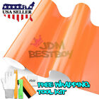 *Premium Gloss Glossy Orange Vinyl Wrap Sticker Decal Air Release Bubble Free
